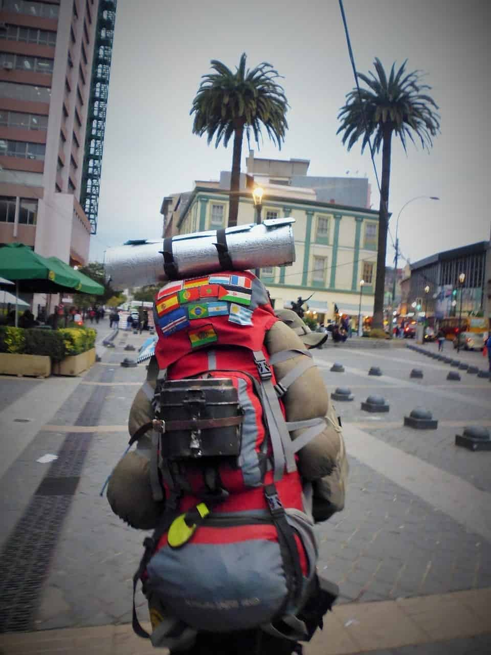 Backpackers can stay at hostels, hotel or with locals