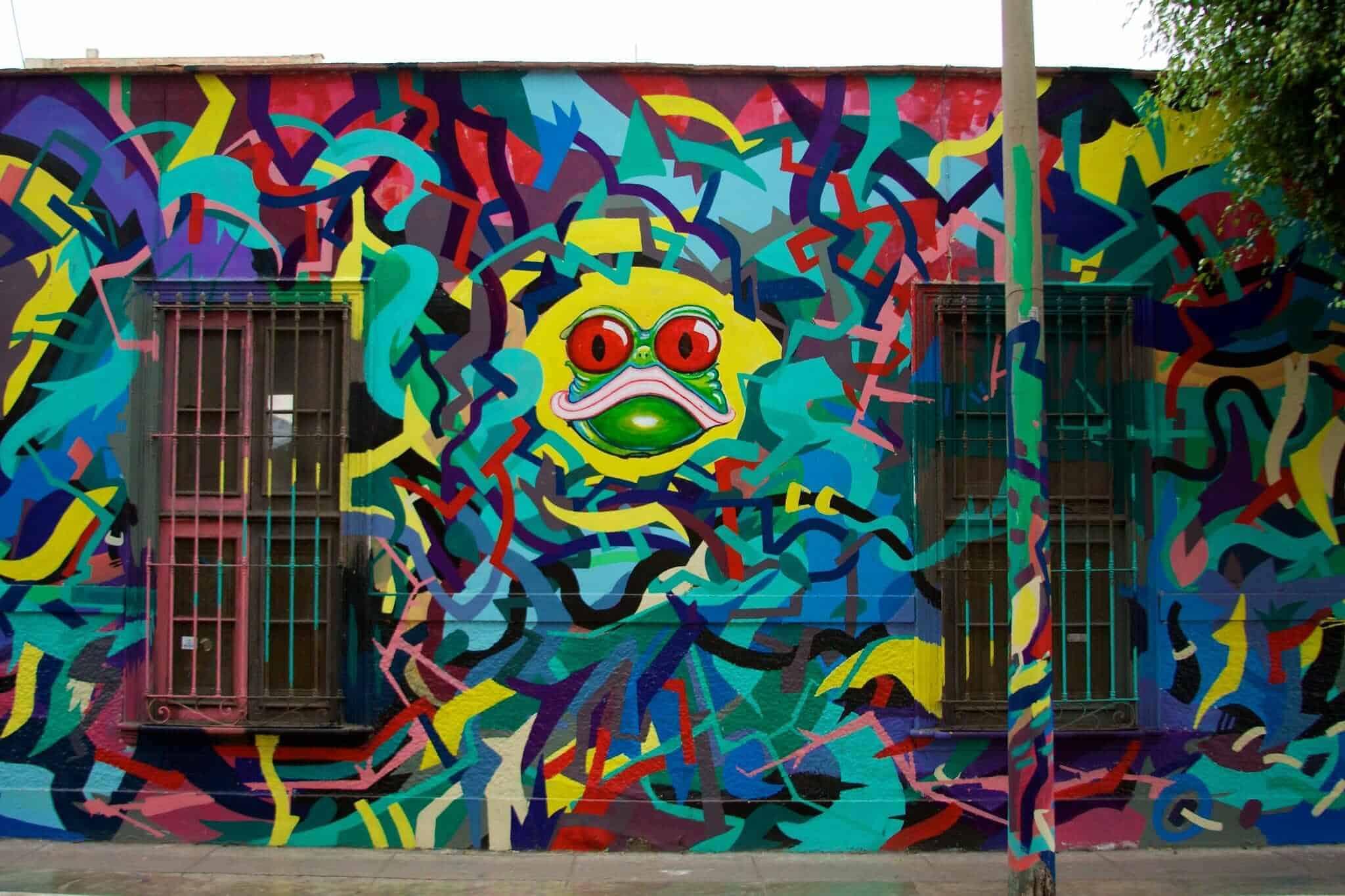 Barranco street art, Lima, Peru