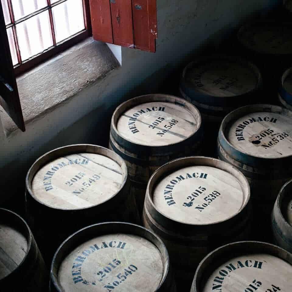 Barrels of distilled Scotch