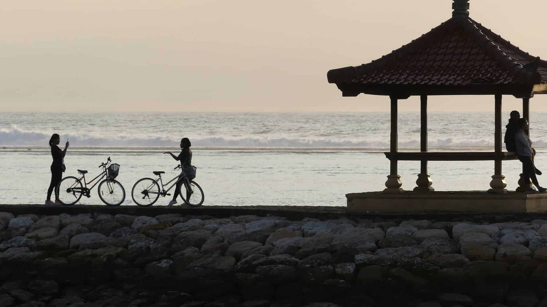 Bicycling in Bali, Indonesia