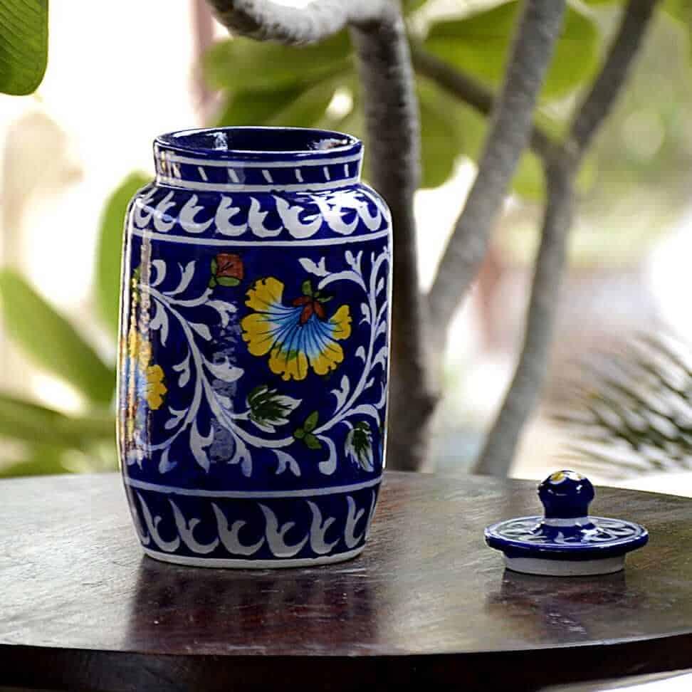 Blue jars from Jaipur