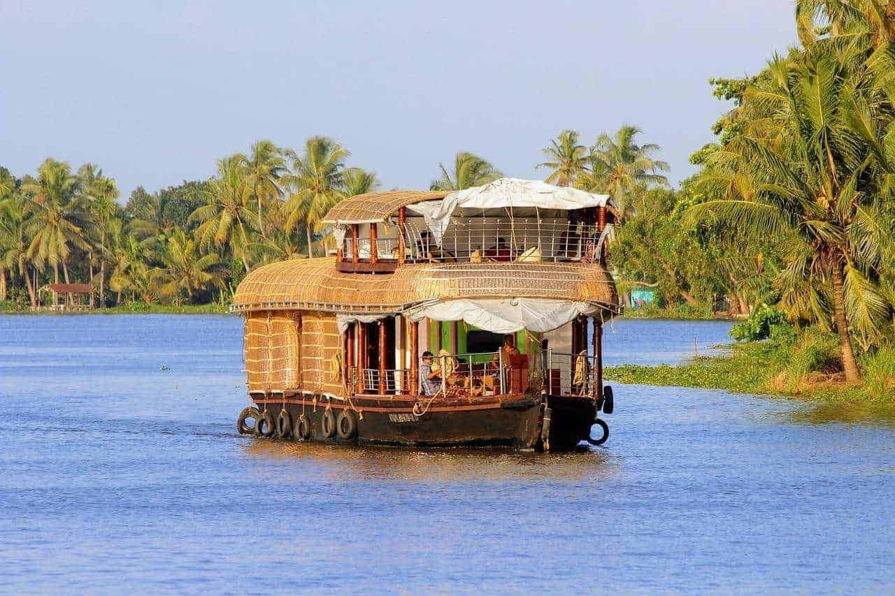Boathouse from the outside - Kerala Travel, India
