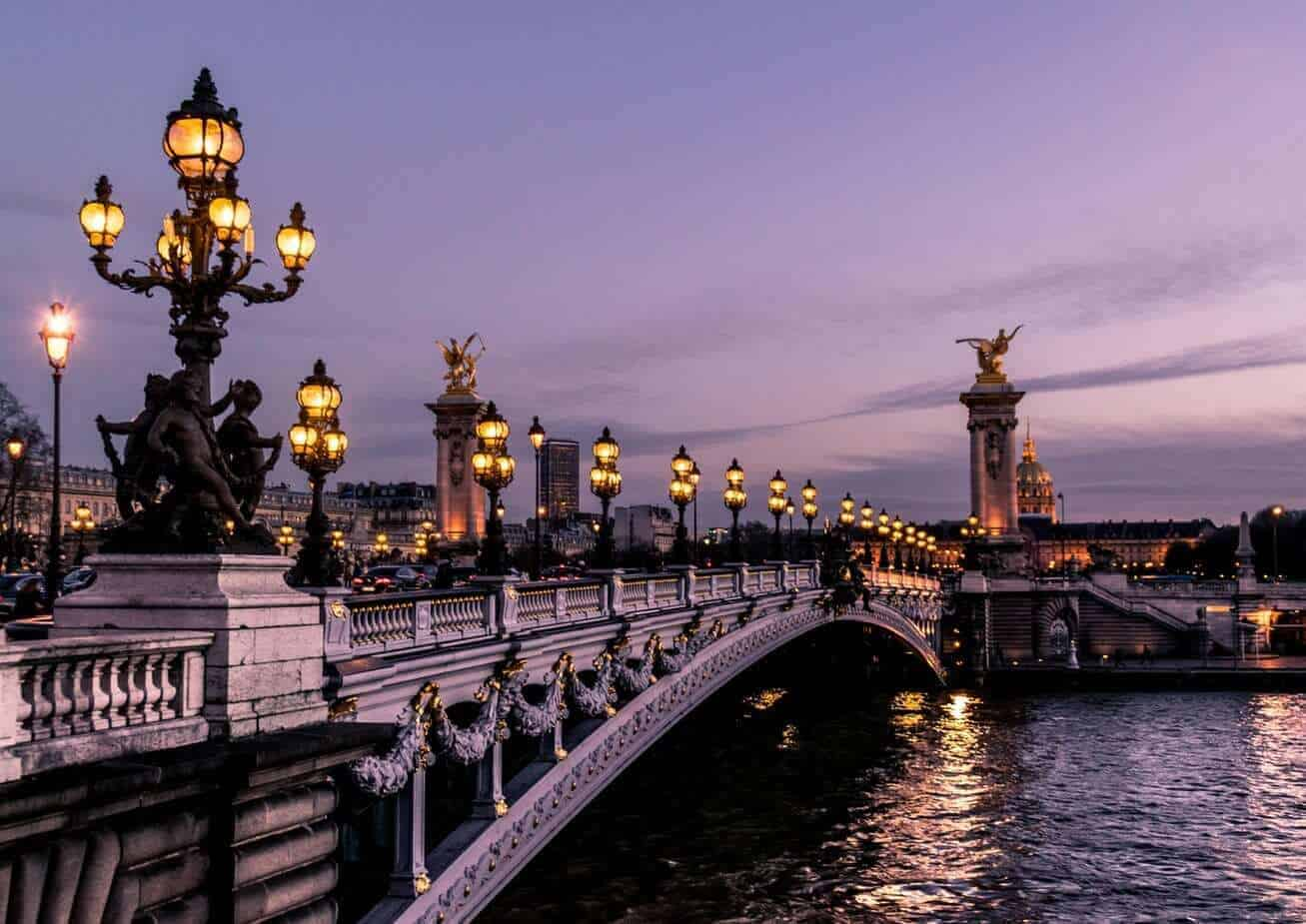 Bridge in Paris on river Seine