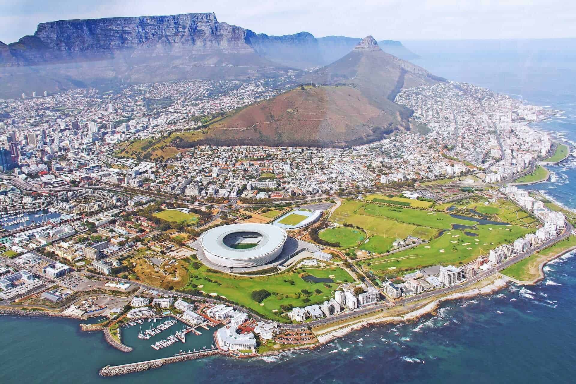 Cape Town from sky