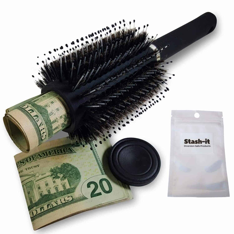Cash safe hair roller mantener tus cosas seguras cuando viajas