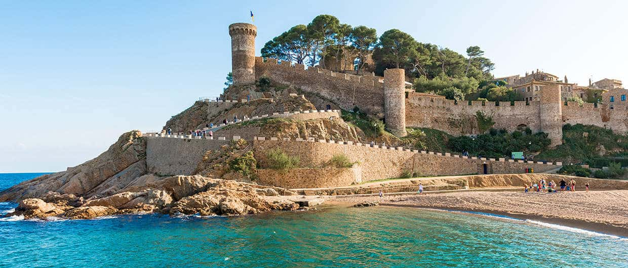 Castillo d'en Plaja on the beaches of Tossa del Mar