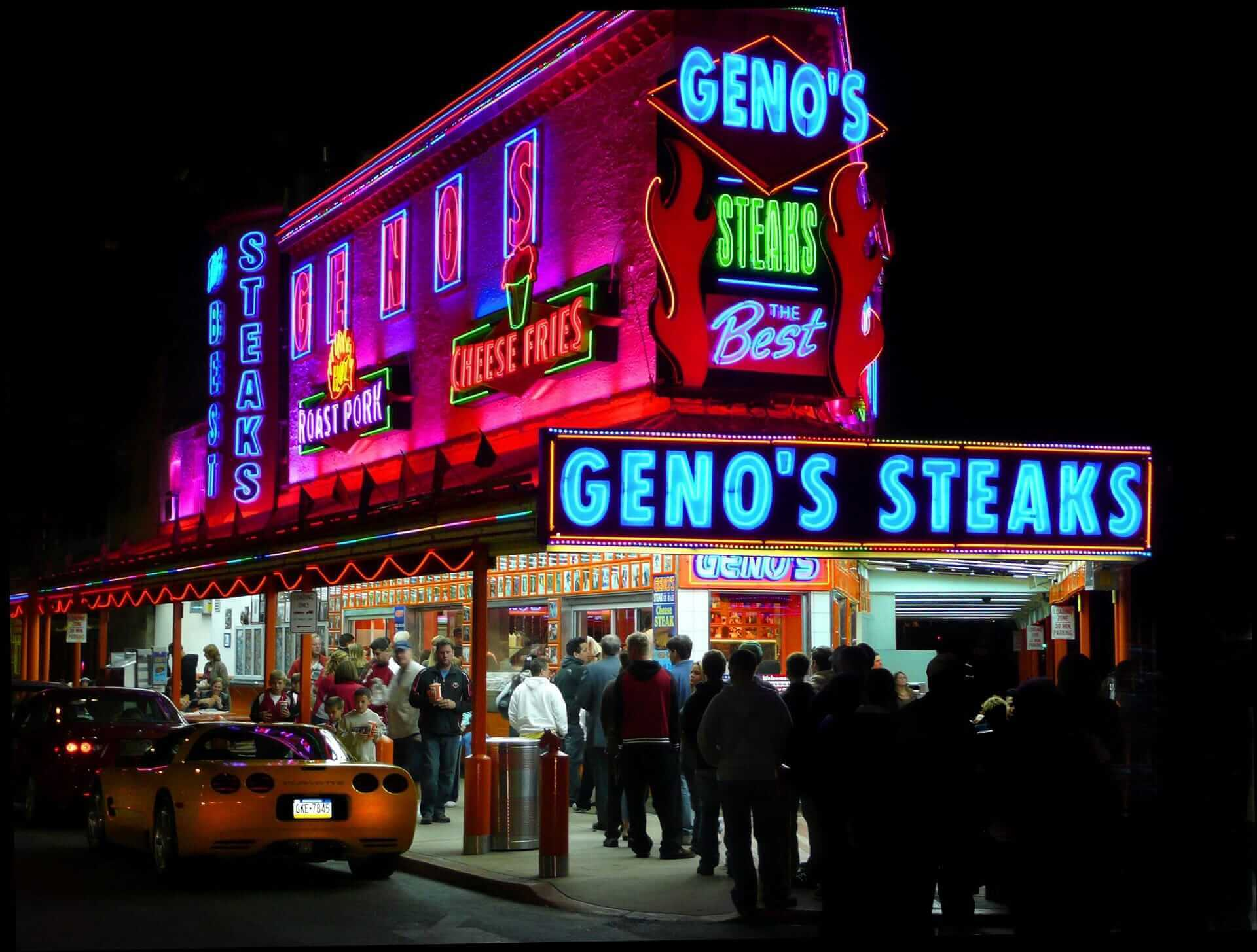 Classic Philly Cheesesteak at Geno's Steaks, Philadelphia