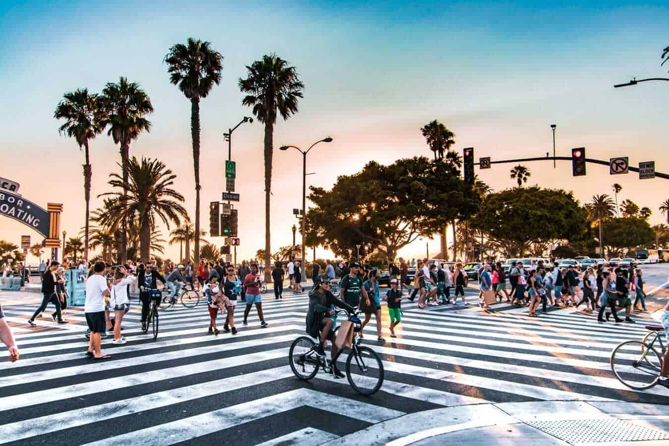 Crosswalk on Santa Monica boulevard, Los Angeles