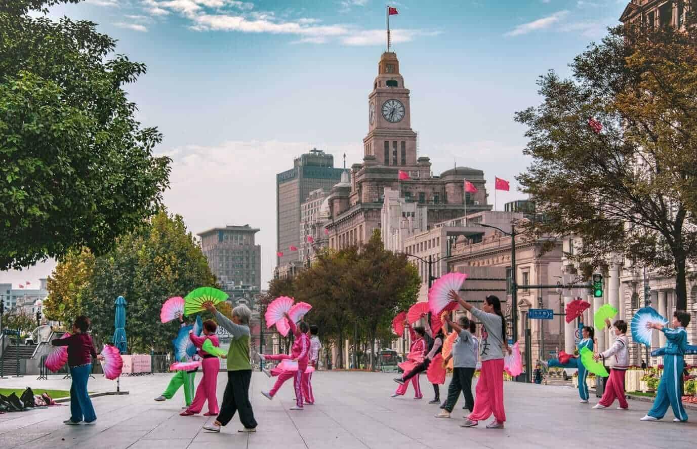 Dance Practice at The Bund, Shanghai