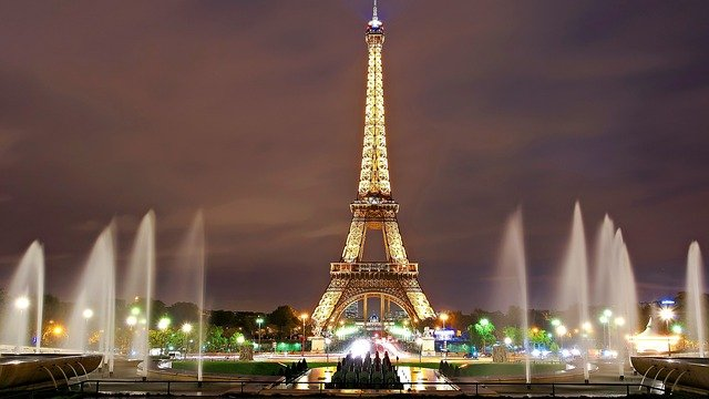 Eiffel Tower in the city of Paris