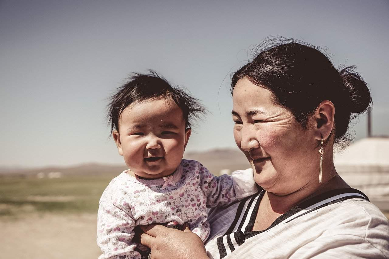 Family in Mongolia