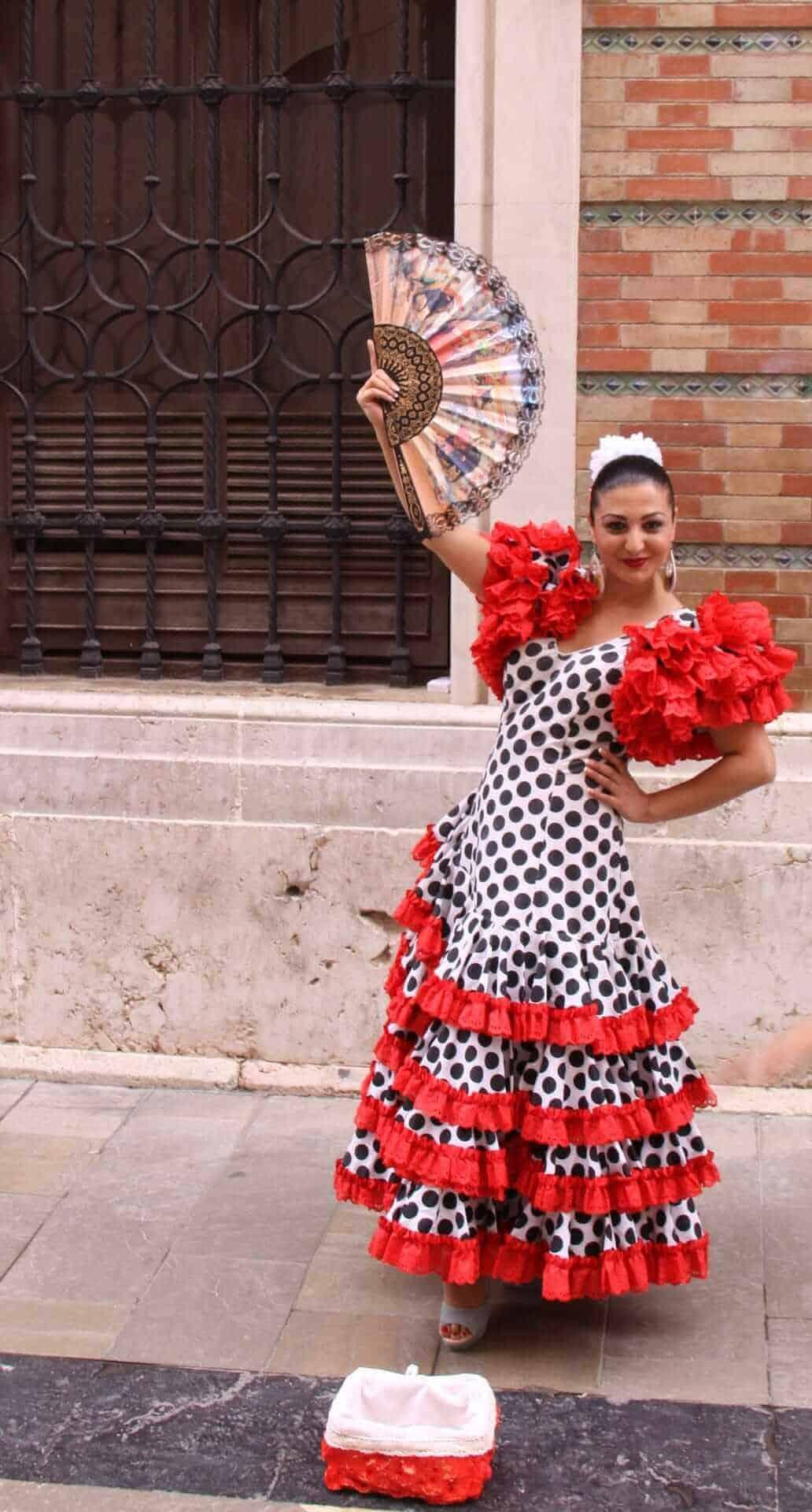 Flamenco dancer with an abanico(Spanish Fan)