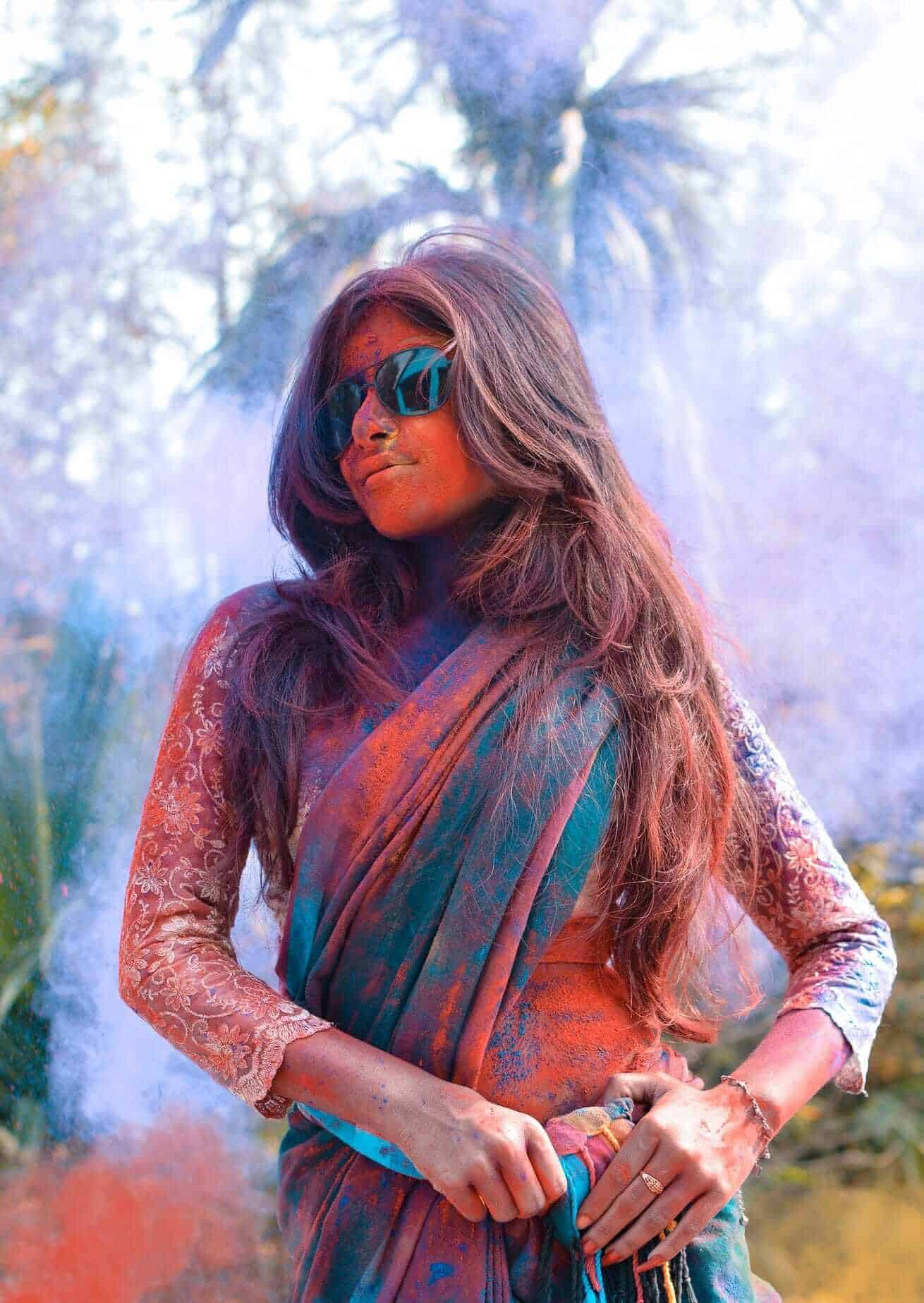 Girl with Holi swag