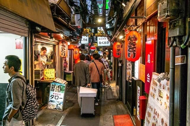 Golden Gai neighbourhood in Tokyo