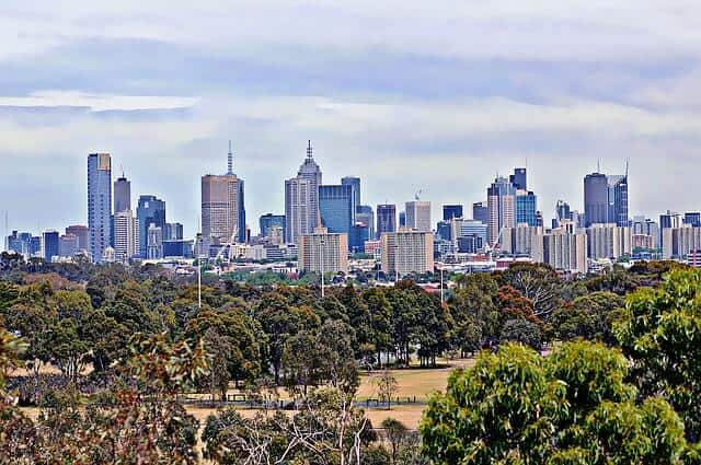 Greenery and cityscape of Melbourne