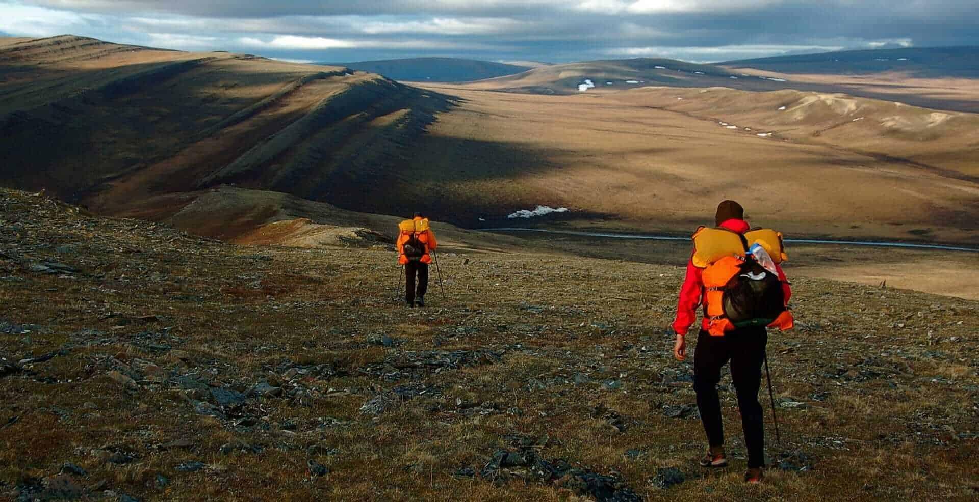 Hiking men