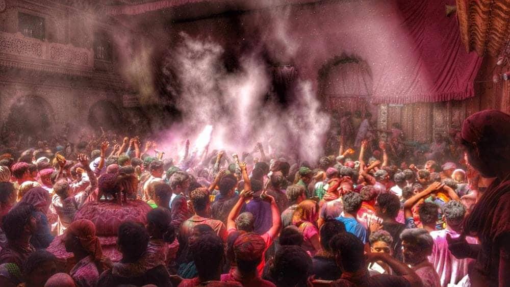 Holi Festival at Dwarkadhish Temple, Mathura