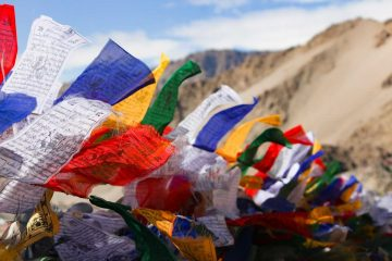 Holy Flags, Leh, India
