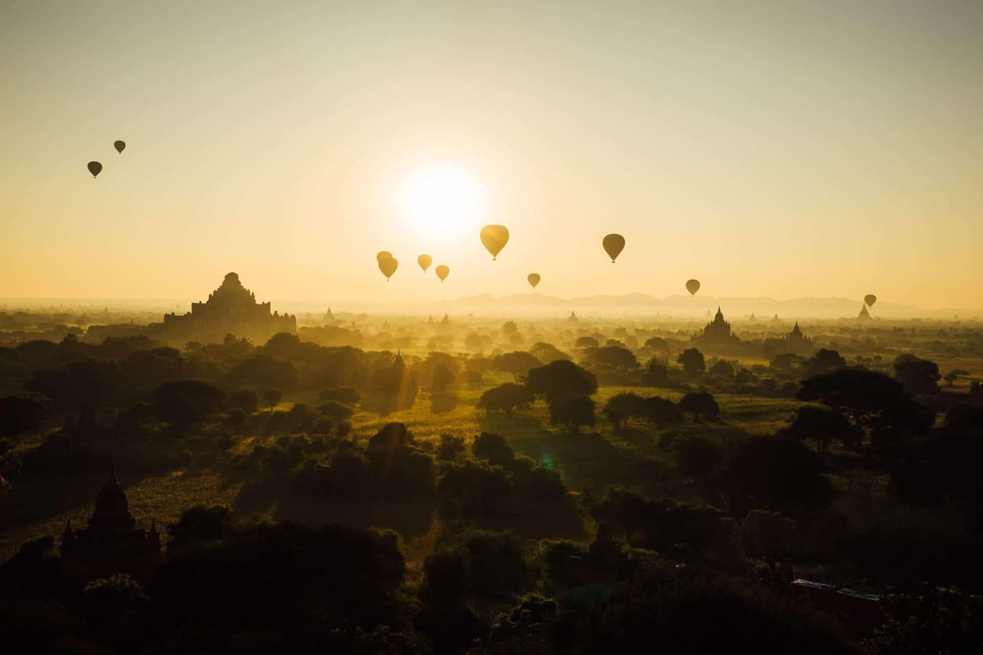Hot air balloon , Myanmar (Burma)