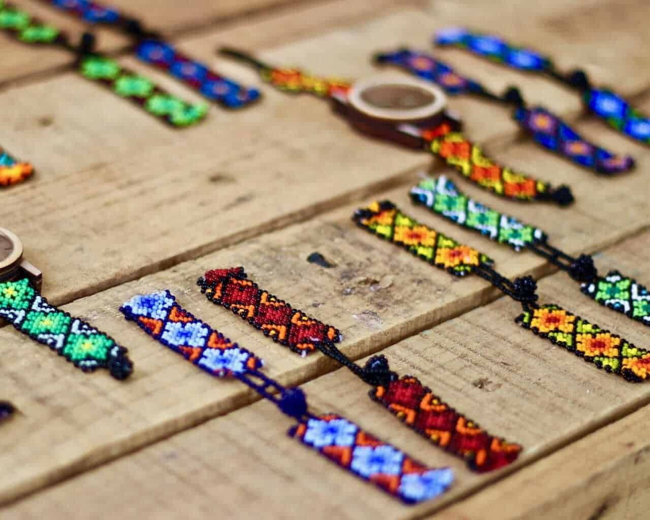 Huichol jewellery - souvenir from Mexico