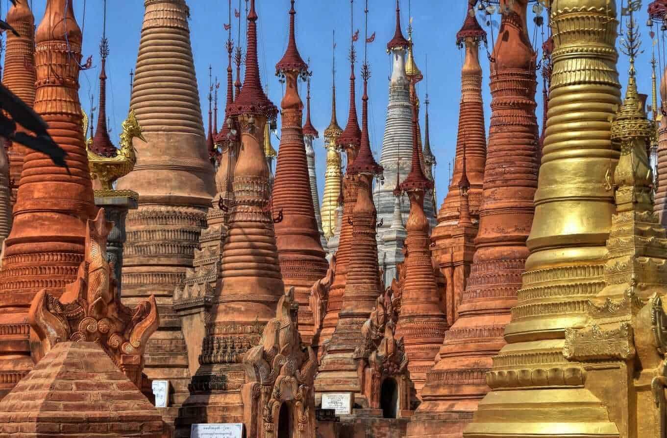 Inn Thein monastery, Inle lake, Myanmar