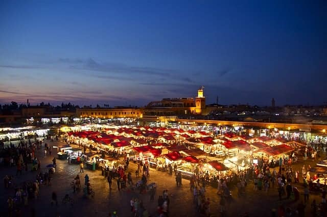 Jemaa el-Fna in the night 1