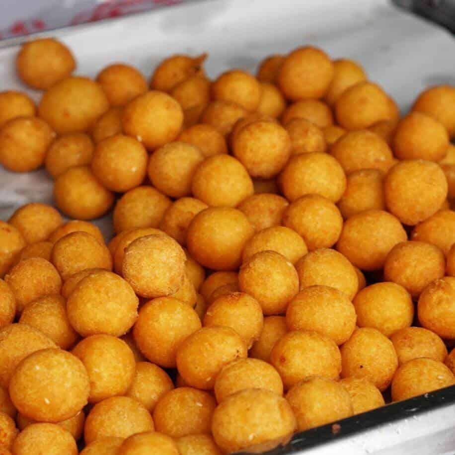 Kanom Kai Nok Krata_Sweet Potato Balls