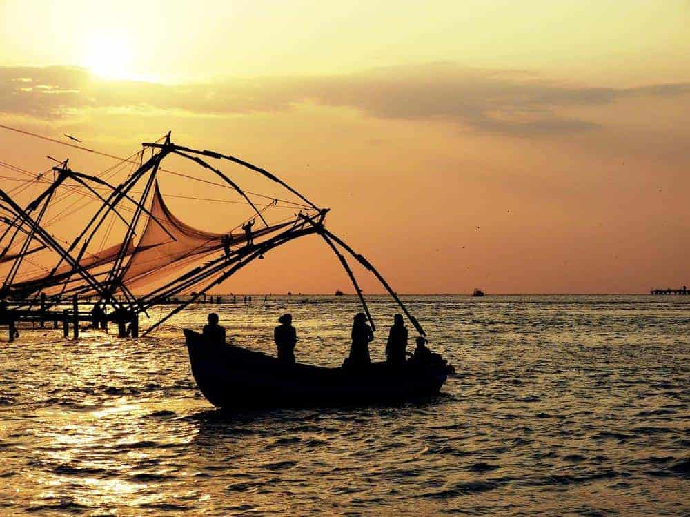 Fishing in Kochi in Kerala