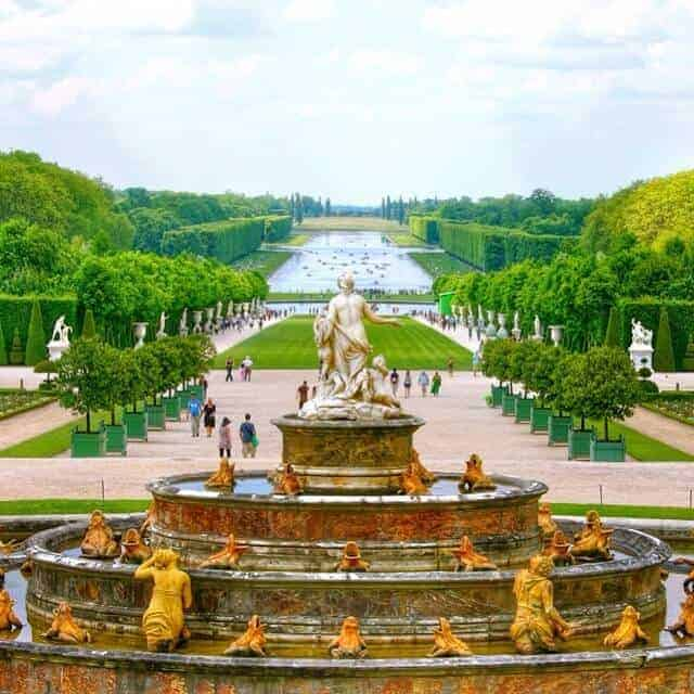 Latona Fountain overlooking Grand Canal -Chateau de Versailles