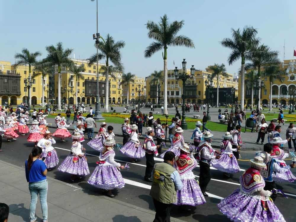 Carnival in Lima Historic Center