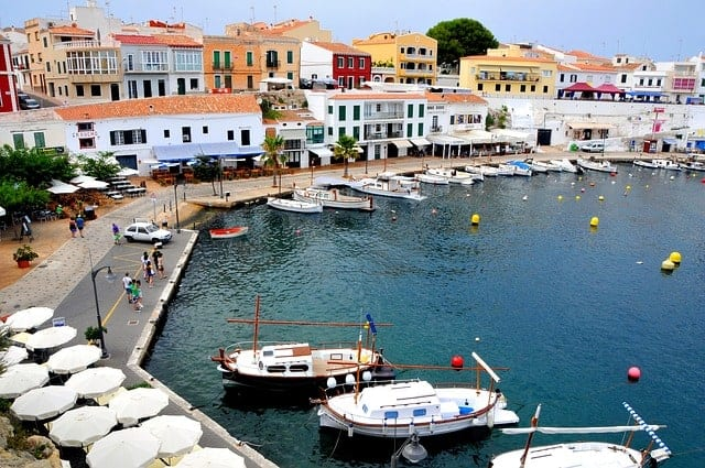 Mahon in Menorca during the day
