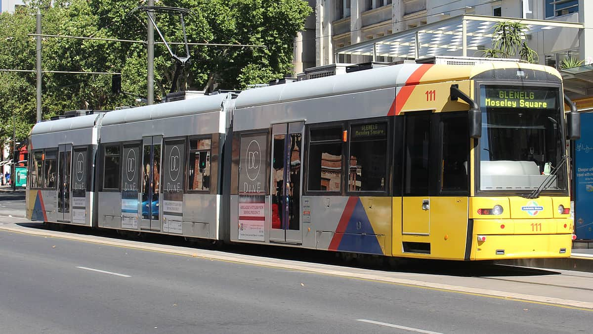 Metro Tram in Adelaide, Australia