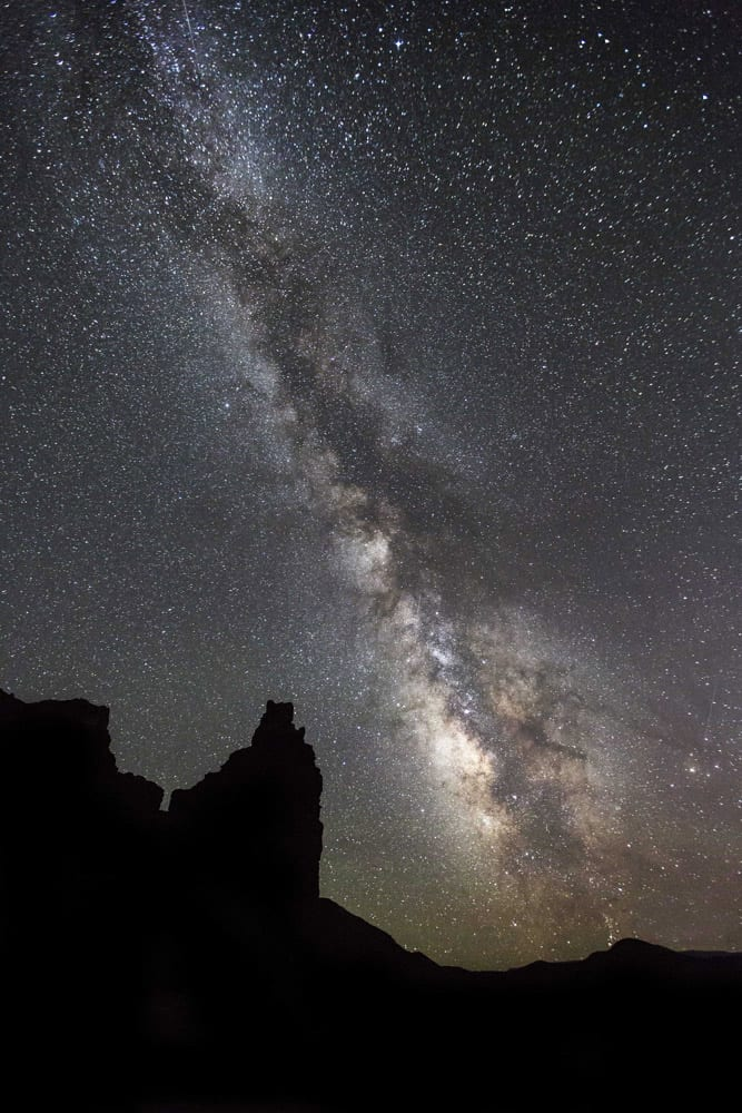 Milky Way over Chimney Rock - Capitol Reef Park