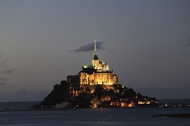 Mont Saint Michel in the night