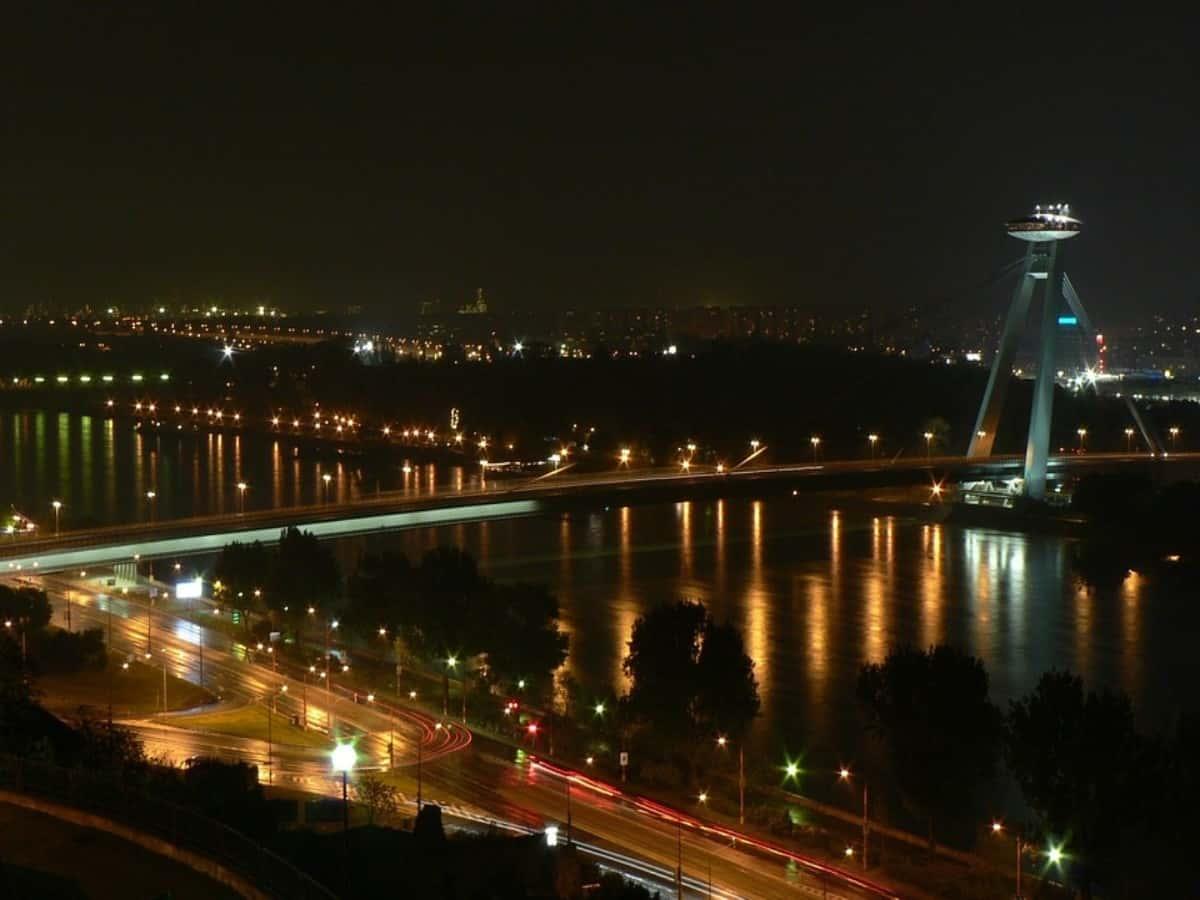 Most-SNP-UFO-Bridge-Danube-River-Bratislava