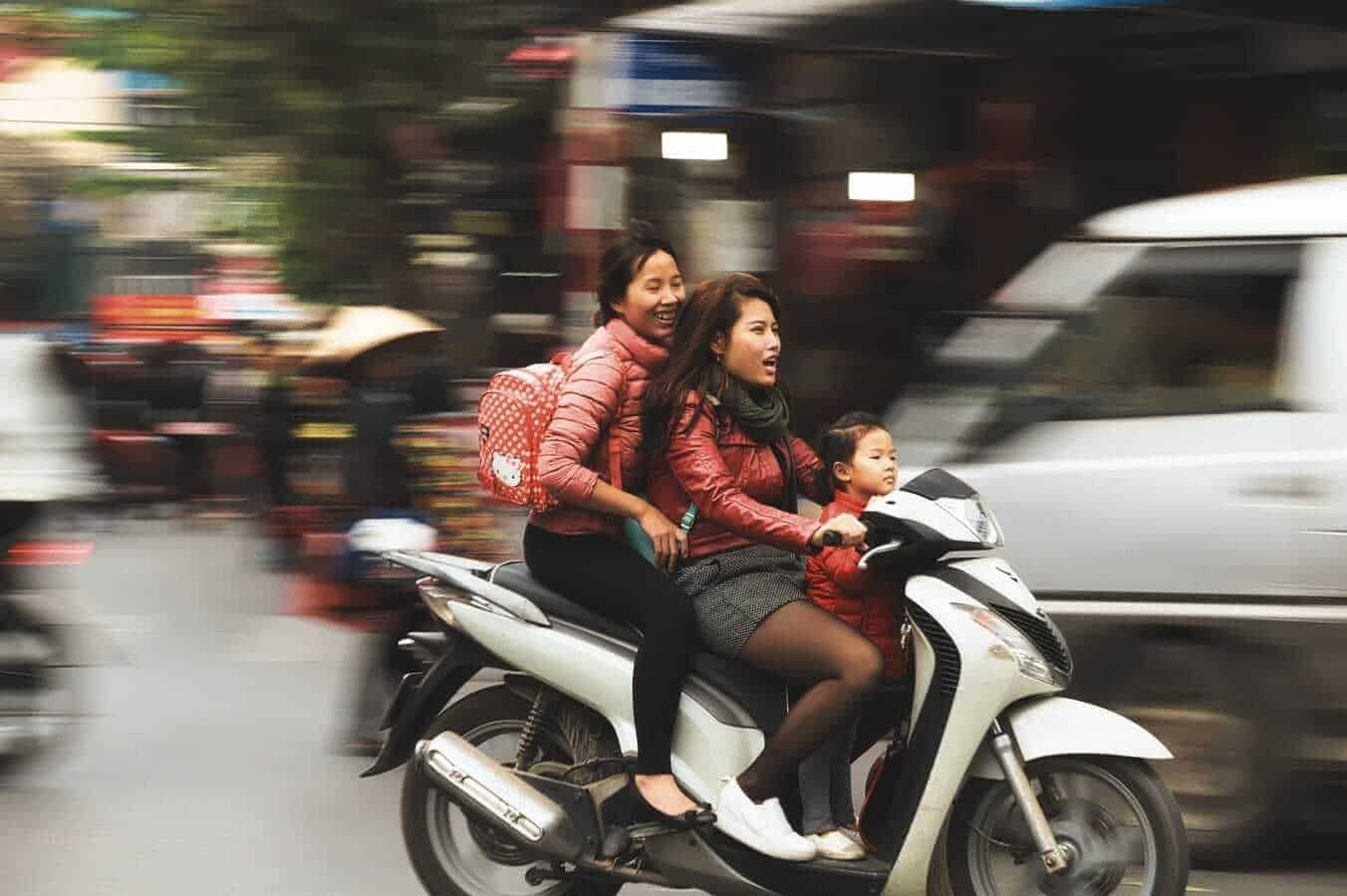 Motor bikes in Hanoi, Vietnam