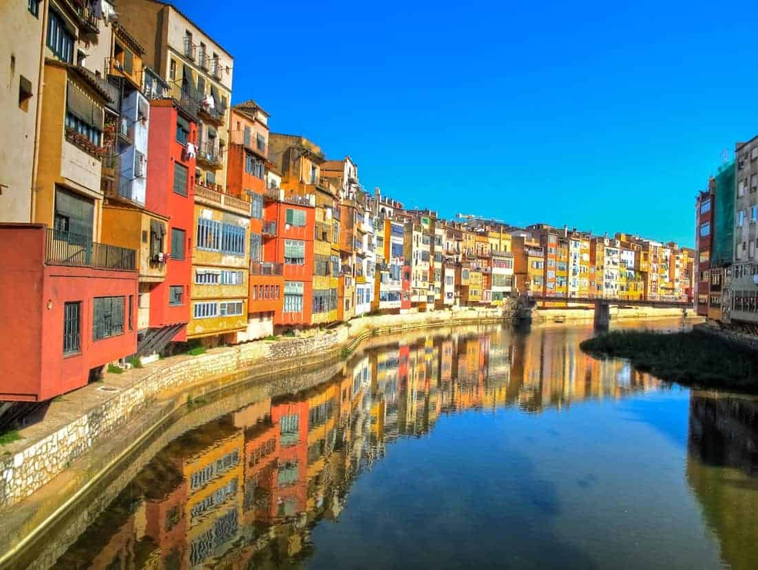 Onyar river flowing through Girona