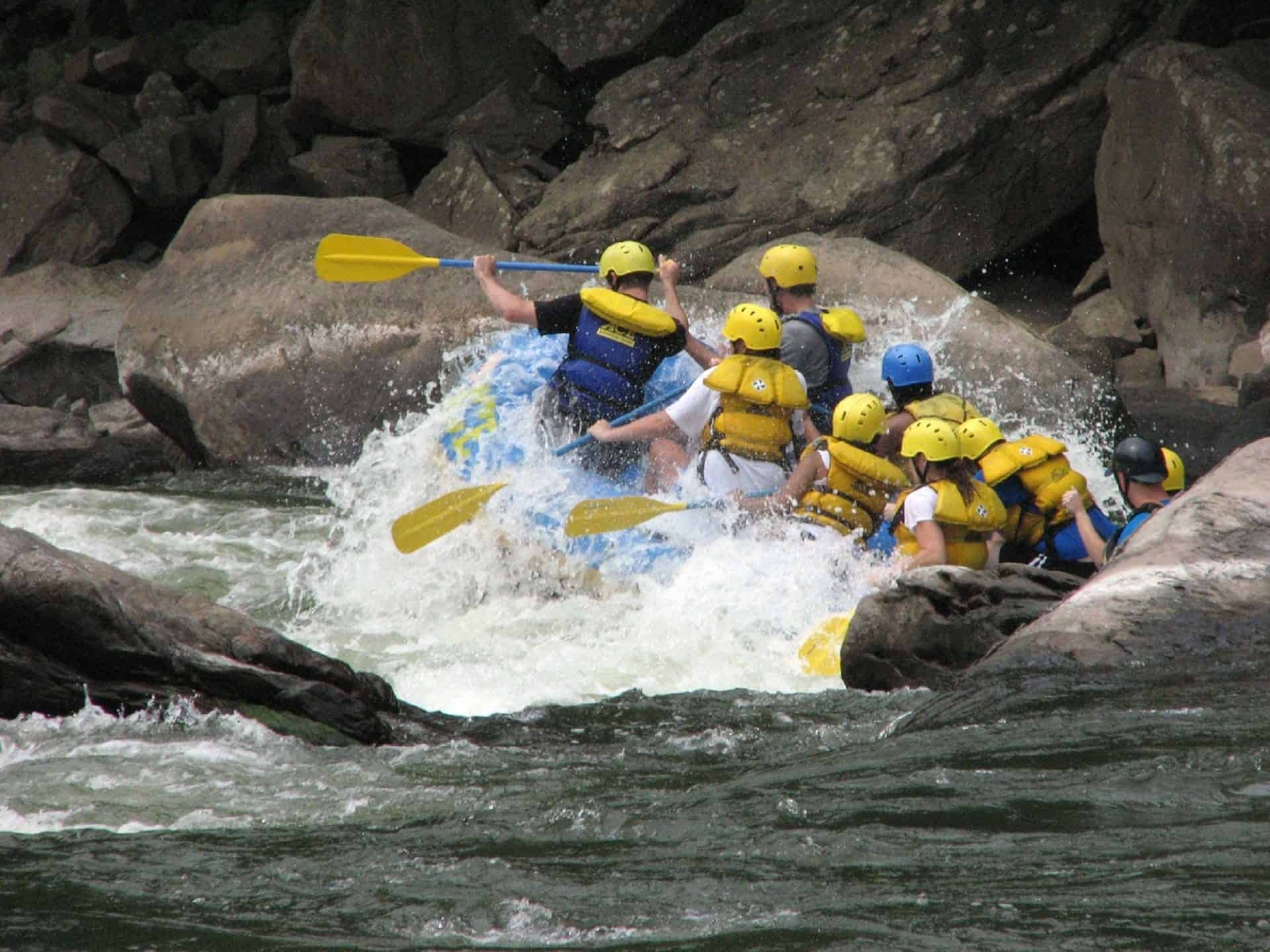 Rafting at Beas river, Kullu, India