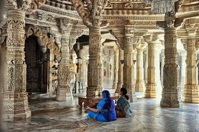 All the pillars in the Ranakpur Jain Temple are unique.
