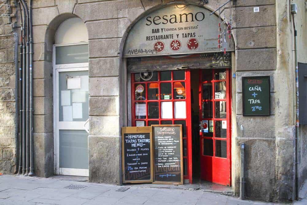 Vegetarian restaurants in Barcelona - Sesamo, Barcelona