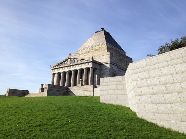 Shrine of Remembrance in Melbourne