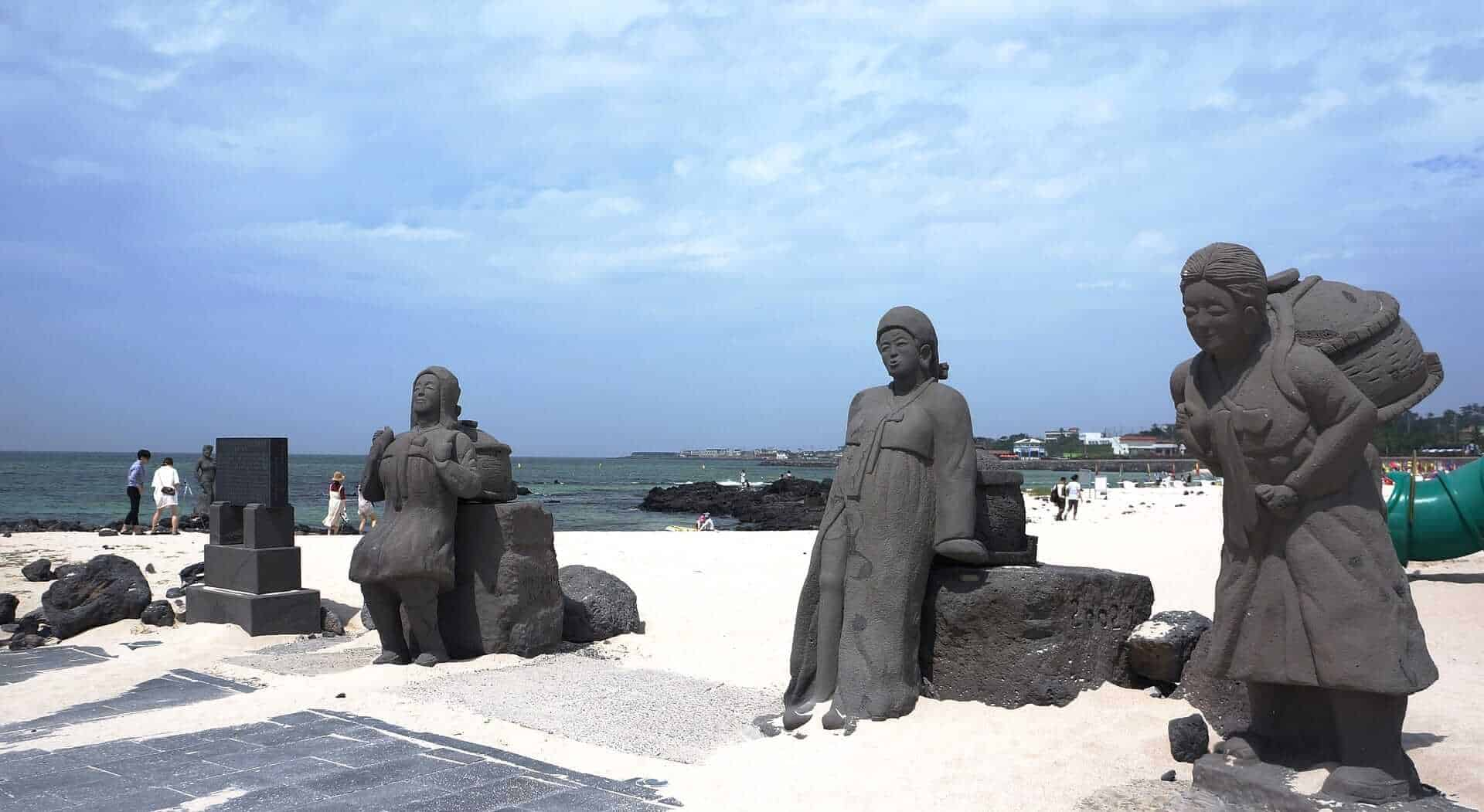 Statues at Jeju Island