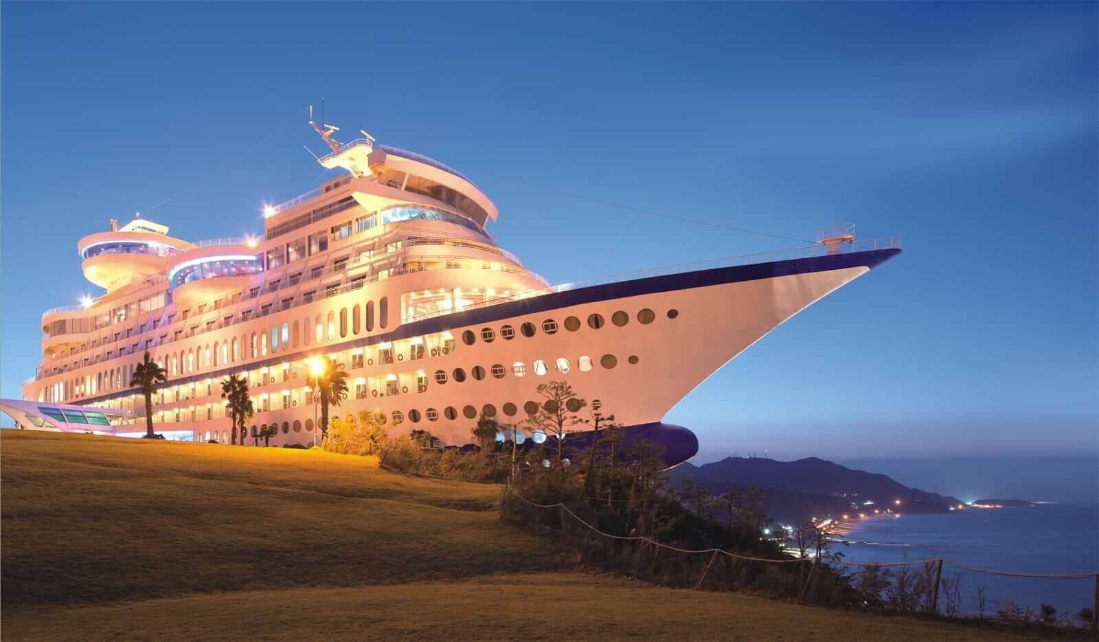 Sun cruise resort, Korea Hoteles únicos