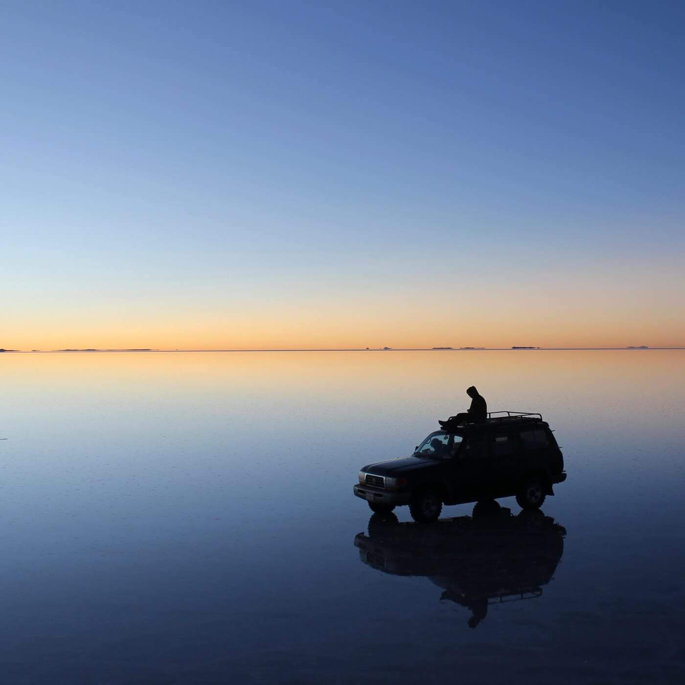 Sunrise at Salar de Uyuni, Bolivia