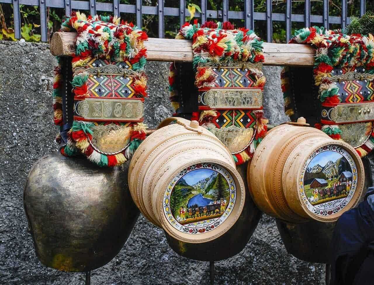 Switzerland trditional souvenirs