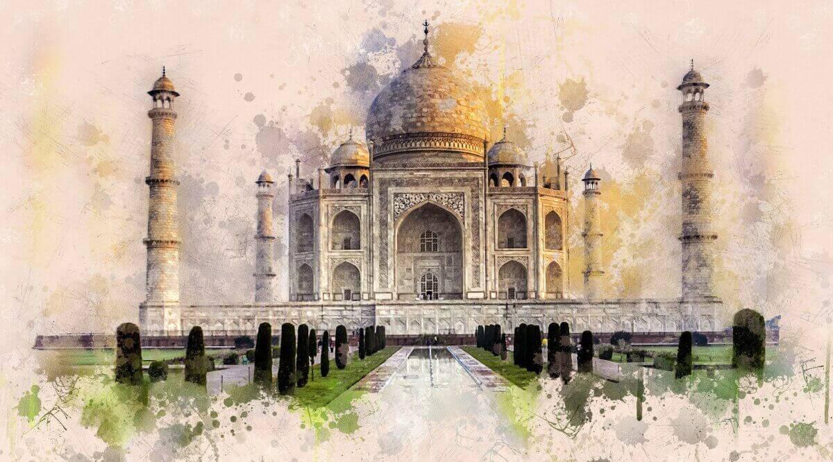 Taj Mahal Pics - Taj Mahal painting