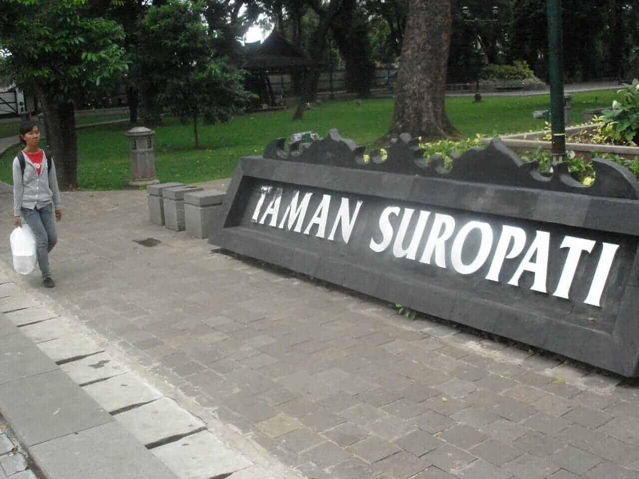 Taman Suropati park, Jakarta, Indonesia