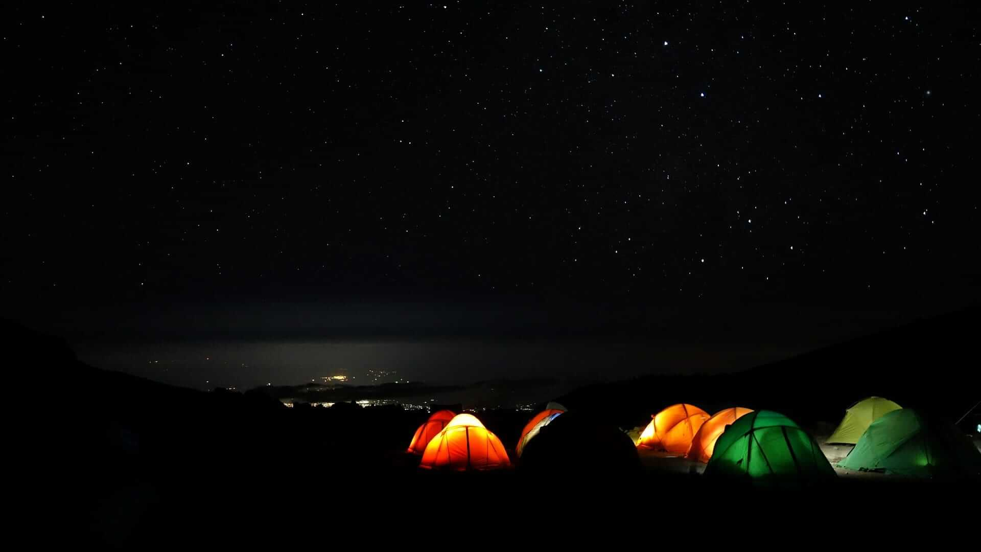Tents in Mount Kilimanjaro - Camp Barranco