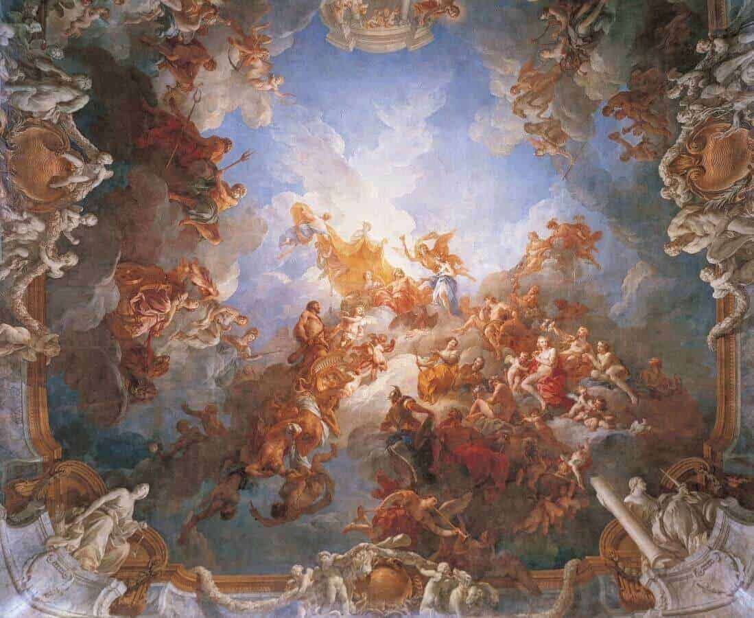 The Apotheosis of Hercules in the ceiling of the Hercules Room - Chateau de Versailles