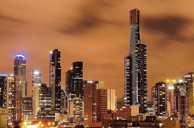 The tallest skyscraper is the Eureka Tower